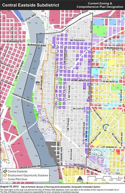 Central Eastside Zoning Map