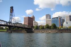 West Quadrant and the Hawthorne Bridge from the Willamette River