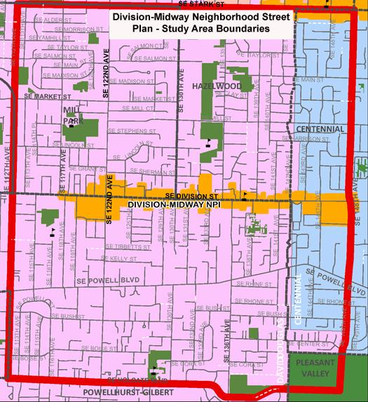 portland oregon street map Division Neighborhood Street Plan The City Of Portland Oregon portland oregon street map