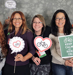 3 women at the 2013 National Women's Bike Forum