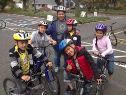 A happy family at the 2013 Safe Routes kickoff