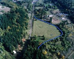 aerial view of property in floodplain