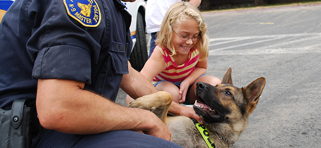 K9 at a community event.