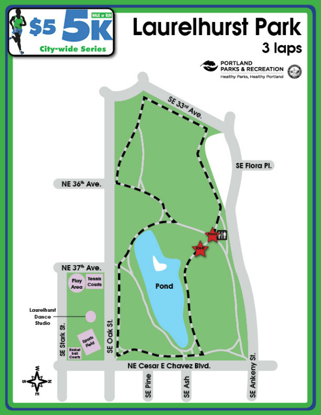 Laurelhurst Park Course Map