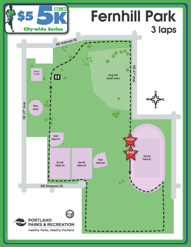 Fernhill Park Course Map