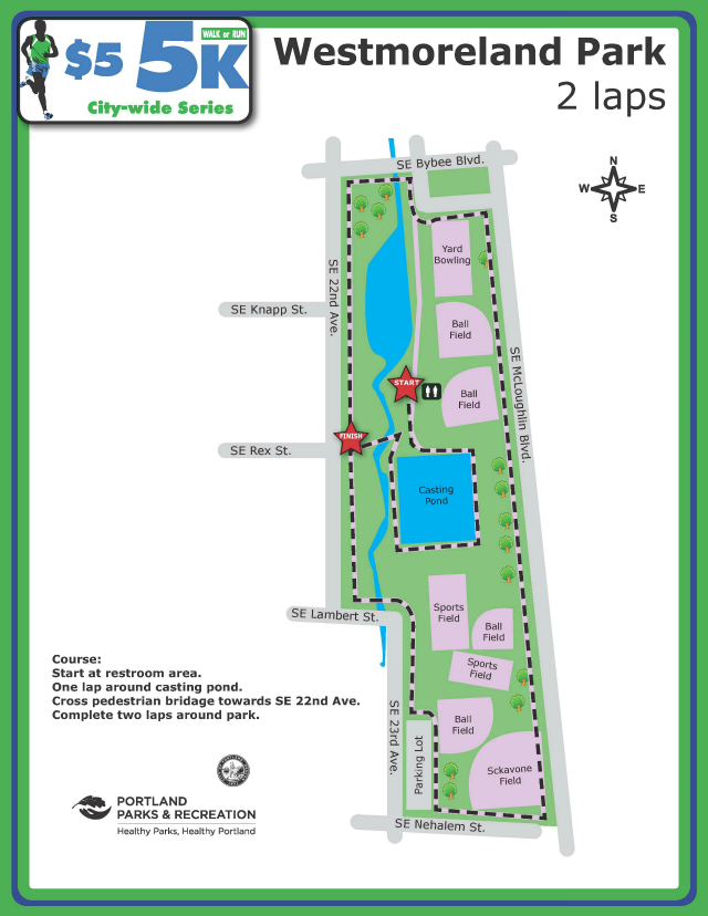 Westmoreland Park Course Map
