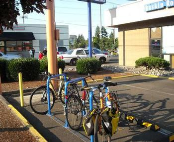Baskins Robbins bike parking