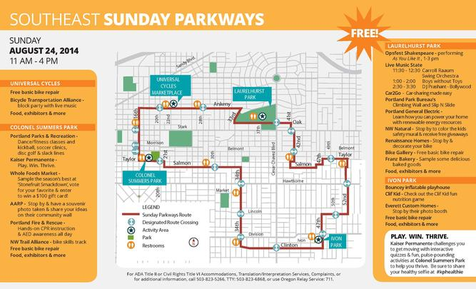 SE Sunday Parkways
