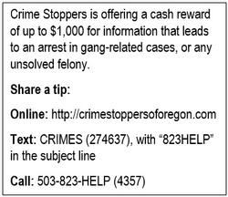 Crime Stoppers contact information.