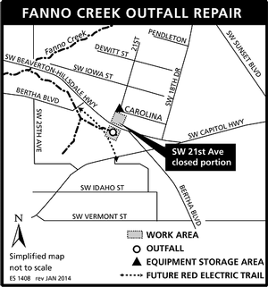 Fanno Outfall project map
