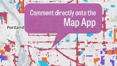 Comment directly on the Map App
