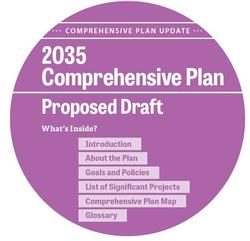 cover graphic from Comprehensive Plan draft