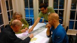 Community members reviewing street plan