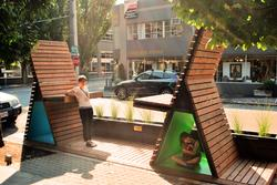 """A Dialogue"" Street Seat design"