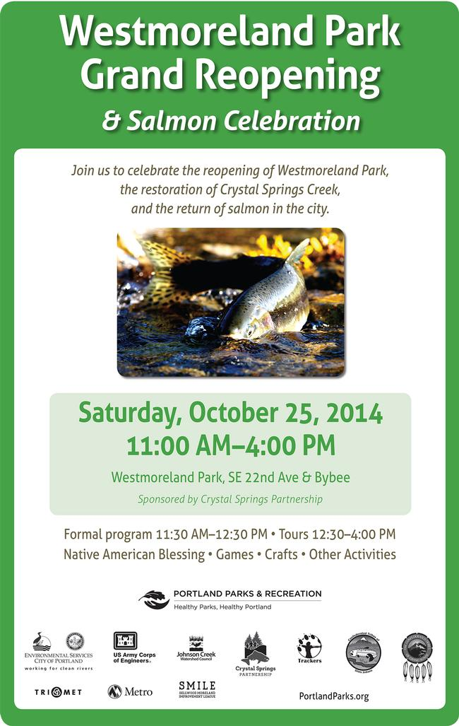 Westmoreland Park Grand Reopening Saturday, October 25, 11am-4pm