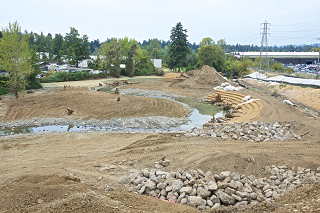 new Johnson Creek channel