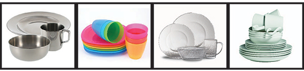 Examples of durable dishware
