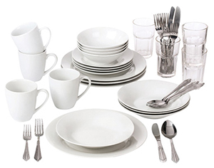 Durable, reusable dishware and flatware