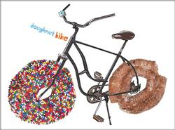 Bike with donuts for wheels