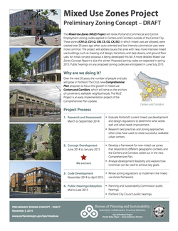 Mixed Use Zones Project: Preliminary Zoning Concept