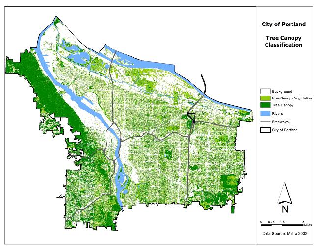 Portland Oregon Map Of Neighborhoods.Low Canopy And Under Served Neighborhoods Program Highlights The