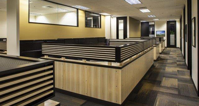 cubicles at office