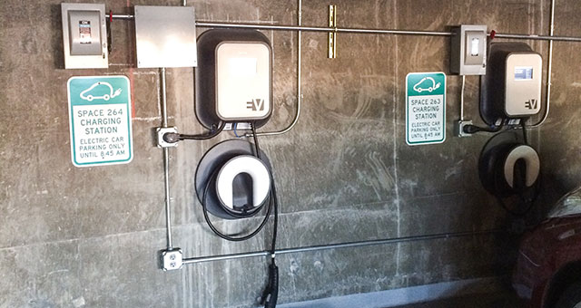 electric car charging station at NWEA