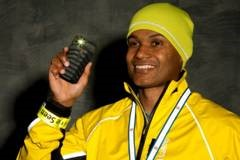 Man wearing fluorescent and reflective jacket