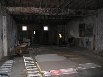 interior: prior to purchase and redevelopment