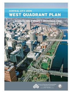Cover of the Recommended Draft West Quadrant Plan