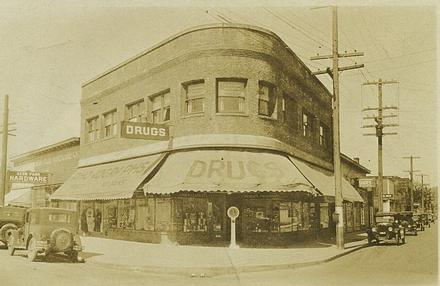 Historic photo of the Phoenix Pharmacy