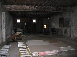 interior of the former auto body shop