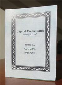 Capital Pacific Bank Official Cultural Passport cover