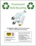 CFL recycling poster