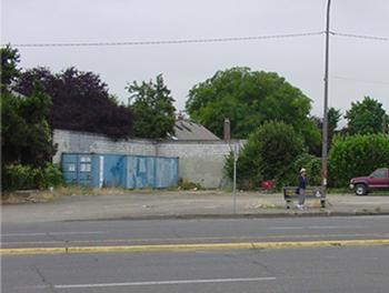 the site prior to redevelopment