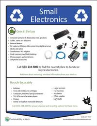 small electronics recycling poster thumbnail