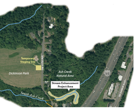 Ash Creek project map