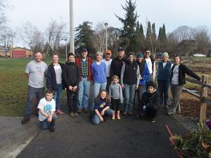 group of volunteers at Westmoreland Park