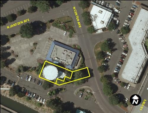 Newport Bay Tank - aerial view (11950 N Center Ave.)