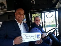 Appreciating a transit driver