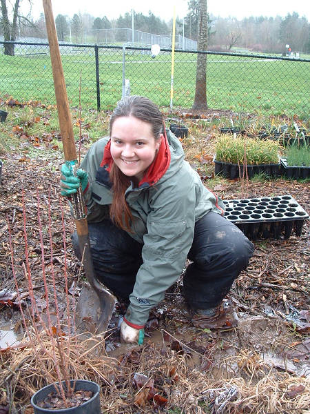 planting in the Tryon Creek watershed