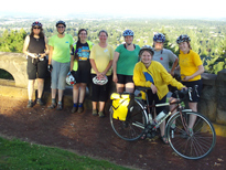 Women who biked to the top - of Rocky Butte