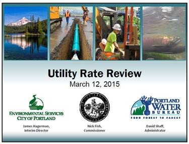Presentation at City Utility Rate Review