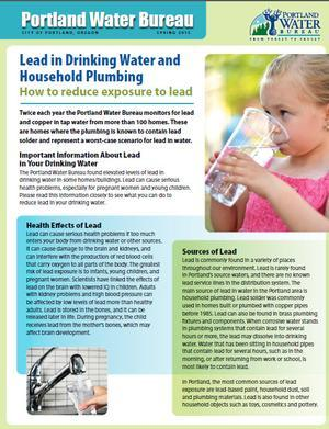Click here for tips to reduce lead in drinking water