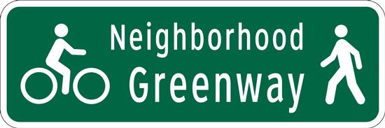 neighborhood greenway id signs