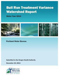 Bull Run Treatment Variance Watershed Report - Water Year 2014