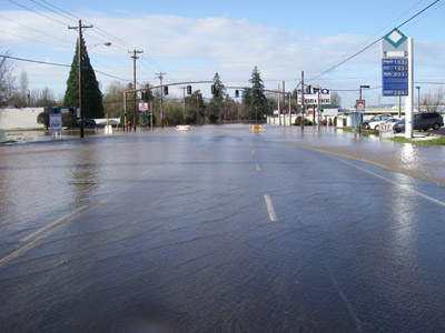 Photo of flooded intersection