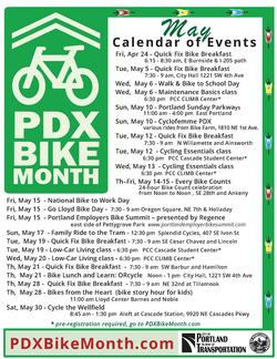 Calendar of PDX Bike Month events