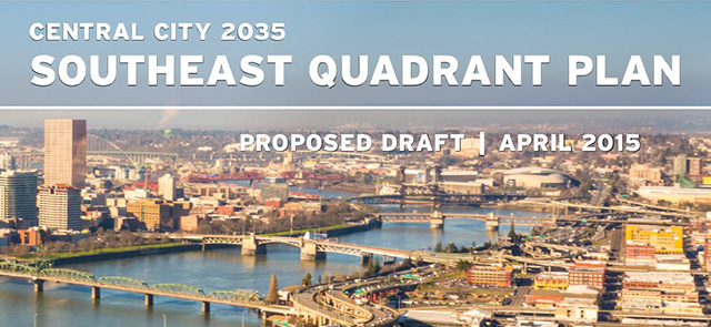 Proposed Draft SE Quadrant Plan Cover
