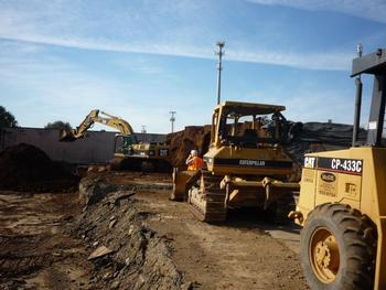 active cleanup at a brownfield site